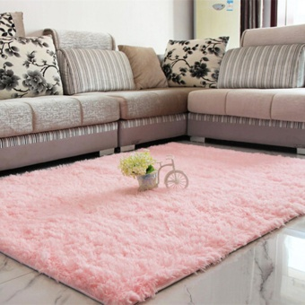 Shaggy Anti-skid Carpets Rugs Floor Mat/Cover 80x120cm Pink