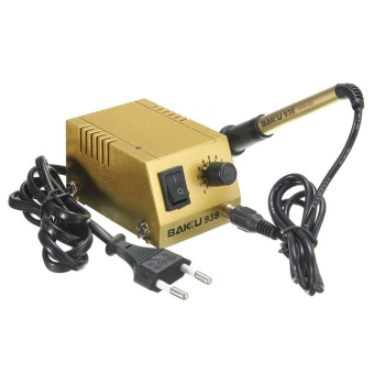 220V Mini Soldering Station 18W Solder Iron BK-938 Adjustable Heating Iron Gold - Intl