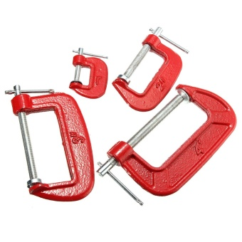 4/100mm C-clamp G-clamp Heavy Duty Metal Woodworks Handyman Carpenter Vise Grip Tools Red - Intl""