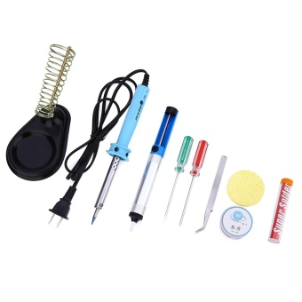 9-in-1 110V 60W Electric Welding Solder Iron Starter Tool Kit - intl
