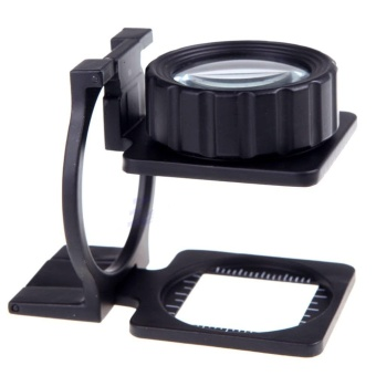 15X Foldable Magnifier Stand Measure Scale Loupe Magnifying Glass Portable Optical Instruments HT205+