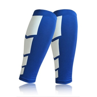 OH Sports Leg Calf Leg Brace Support Stretch Sleeve Compression Exercise Unisex Blue L - Intl