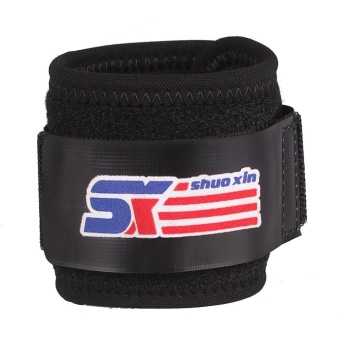 SX601 Sports Gym Elastic Stretchy Wrist Joint Brace Support Wrap Band Guard Protector Black