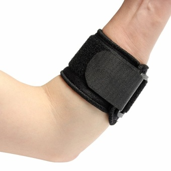 Black Adjustable Tennis Fitness Elbow Brace Support Strap Pad Sports Protector