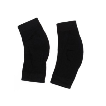 niceEshop Athletic Stretchy Warm Cotton Knee Sleeve Black Support Brace,2pcs