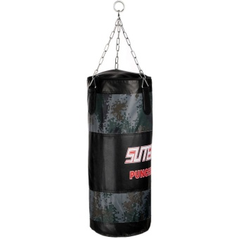 Outdoorfree 65cm Camouflage Boxing Free Combat Training Sandbag Hanging Empty Kick Punch Bag with Chain - Intl