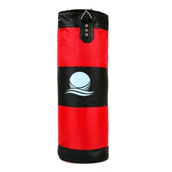 60cm Punching Bag with Hook Hanging for Boxing Training Fitness (Red/Black)