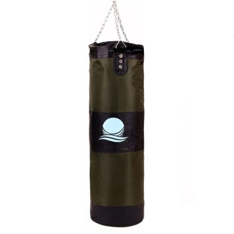 90cm Punching Bag with Hook Hanging for Boxing Training Fitness (Green/Black)