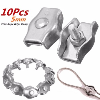 316Stainless Steel Wire Rope Simple Grip Cable Clamp M5