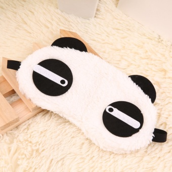 OH Cute Panda Sleeping Face Eye Mask Blindfold Shade Traveling Sleep Eye Aid White