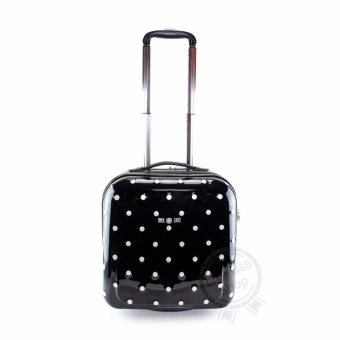 Swiss Gear KW063 Polka Dots Luggages - Black New!รุ่นยอดนิยม