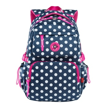 Primary Students Girls Backpack Child School Backpack Bookbag & Dark Blue