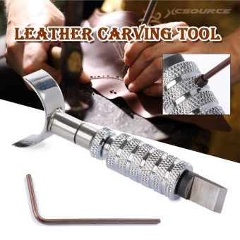 XCSOURCE อุปกรณ์แกะสลักหนัง Adjustable Leathercraft Deluxe Leather Carving Swivel Blade Tool Set