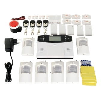 GSM Wireless Smart Security Alarm System Set - White + Black (EU Plug)