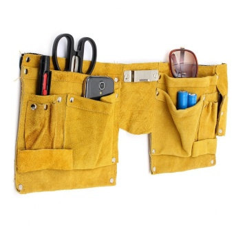 Leather Pocket Pouch Tool Belt Bag Electrician Carpenter Contractor Construction