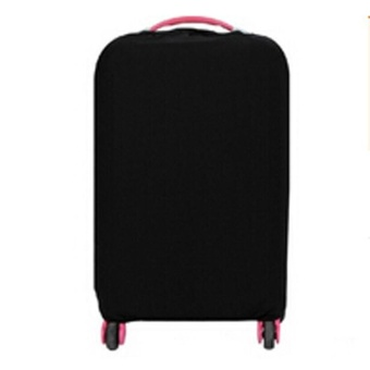 LALANG Solid Elasticity Luggage Protective Suitcase Covers S (Black)