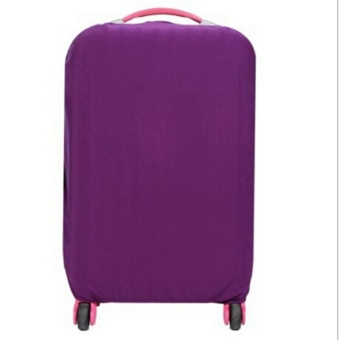 Hanyu Solid Elasticity Luggage Protective Suitcase Covers L(Purple) - intl