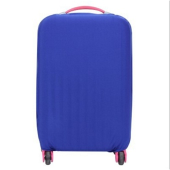 Hanyu Solid Elasticity Luggage Protective Suitcase Covers S(Blue) - intl