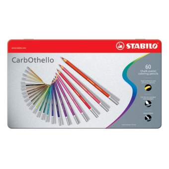 Stabilo CarbOthello 60 colors metal box