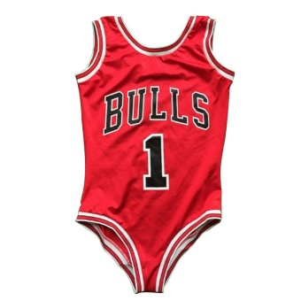 Fang Fang Women Sexy Monokini One Piece Bulls Bodysuit Bikini Swimsuit bathing Suit Bikini 2016 New (Red) - S
