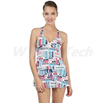 Women's Quick Drying Siamese Swimwear A16 (White) - INTL
