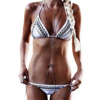 Women Bandage Push-Up Padded Bikini Set (White) - Intl