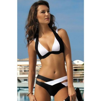 Classic Women's Push Up Halter Bikini Swimsuit Top & Bottom