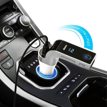 Center Bluetooth Car Charger FM Modulator CARG7 บลูทูธในรถยนต์ (silver)