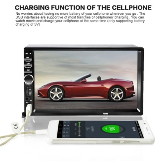 "2DIN 7"" HD In Dash Car TouchScreen Bluetooth Stereo MP3 MP5 +Rear Camera (Intl)"""