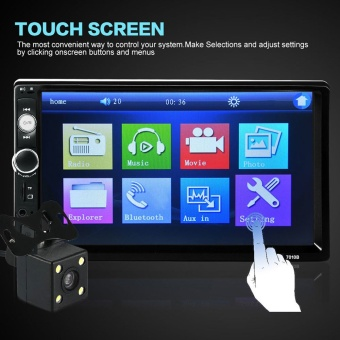 Product details of 7'' HD Bluetooth Touch Screen Car Stereo Radio 2 DIN FM/MP5/MP3/USB/AUX + Camera