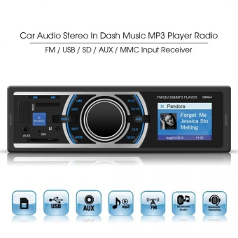 Car Audio Stereo In Dash Music MP3 Player Radio FM / USB / SD / AUX / MMC Input Receiver (Black) - intl