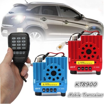QYT KT8900 136-174/400-480MHz Dual Band 25W Car Pocket Mobile Radio Transceiver Red