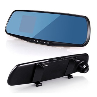 niceEshop LCD Rear View Mirror Car DVR Camera Recorder (Black) -