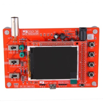 OH DSO138 Soldered Pocket-size Digital Oscilloscope Kit DIY Parts Electronic Red