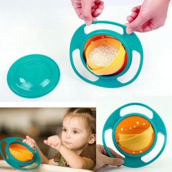 Feeding Toddler Gyro Bowl Dishes 360 Rotate Cup Baby Kid Avoid Food Spill