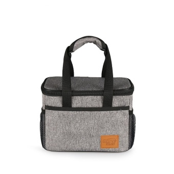 Square Waterproof Insulated Cooler Lunch Tote Bags 6L(Heather Grey)