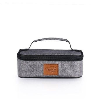 Flat Square Waterproof Insulated Cooler Lunch Tote Bags 2.5L(Heather Grey)