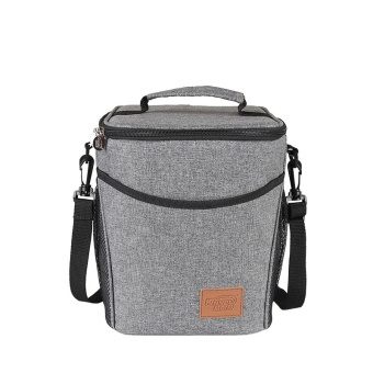 Doliform Waterproof Insulated Cooler Lunch Tote Bags with Detachable Shoulder 9L(Heather Grey)