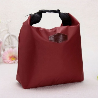 Thermal Insulated Waterproof Lunch Tote Storage Picnic Carry Bag wind red