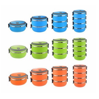 2016 High Quality Thermal Insulated Stainless Steel Portable single layer Lunch Box Picnic Food Container(green)