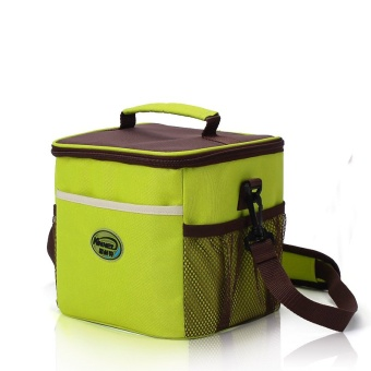 Splice Cube Doliform Waterproof Insulated Cooler Lunch Tote Bags 9L(Yellowgreen)