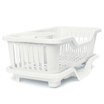 4-Color Kitchen Dish Sink Drainer Drying Rack Wash Holder Basket Organizer Tray White - Intl