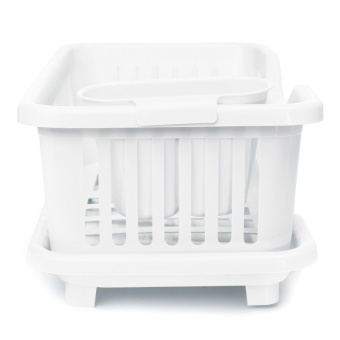 4-Color Kitchen Dish Sink Drainer Drying Rack Wash Holder Basket Organizer Tray White - Intl ร้านค้าดี ราคาถูกสุด - RanCaDee.com