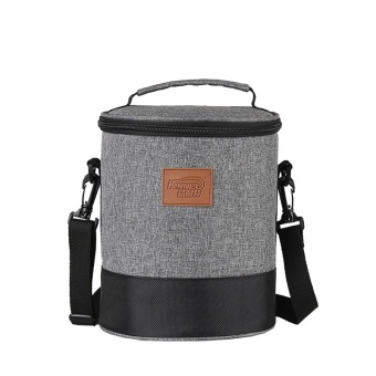 High Doliform Waterproof Insulated Cooler Lunch Tote Bags with Detachable Shoulder 4.8L(Heather Grey)