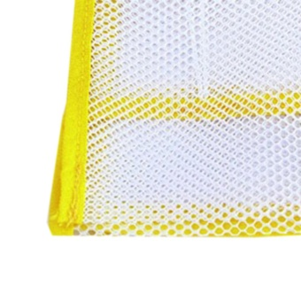 Home Bathroom Suction Net Bag Bath Baby Kid Storage Yellow