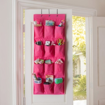 12 Pockets Over Door Cloth Closet Space Storage Shoe Hanger Organizer Hanging - INTL