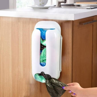 Durable Wall Mount Plastic Carrier Bag Storage Container Holder Recycle Box
