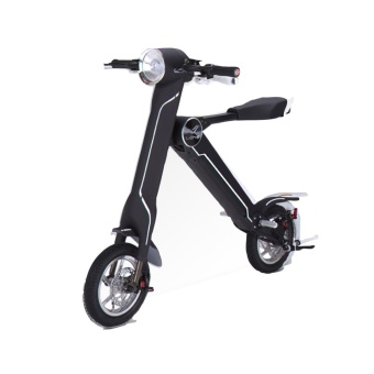 LEHE K1 Smart Bicycle Electric Mini Intelligent Folding Bicycle Instead of Walking Electric Motorcycle (Black)