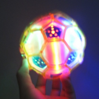 Funny Crazy Dancing Music Flashing Football Electric Led Flash Light Toy For Kids(Pink)