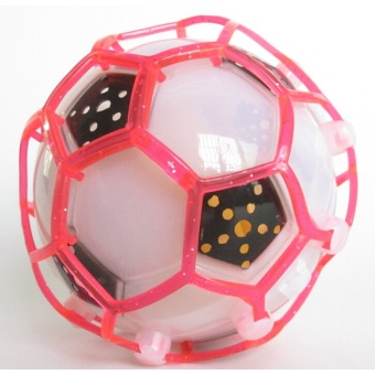 Funny Crazy Dancing Music Flashing Football Electric Led Flash Light Toy For Kids(White)